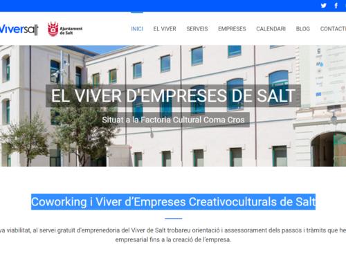 EL VIVER D'EMPRESES DE SALT ESTRENA PÀGINA WEB