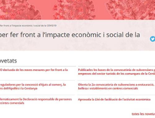 RECULL DE MESURES PER FER FRONT A L'IMPACTE ECONÒMIC I SOCIAL DE LA COVID19